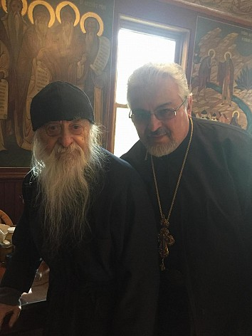 Fr. Peter and Hieromonk Job at Holy Trinity Monastery, Jordanville, NY